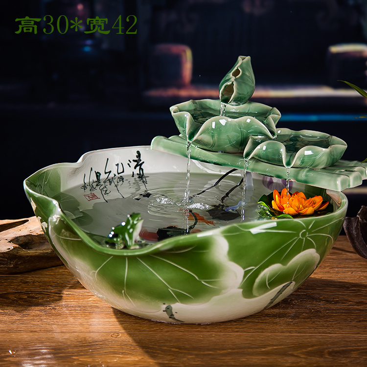 Water Is The Fountain Waterscape Living Room Decoration Ceramic Atomization Humidifier Feng Shui