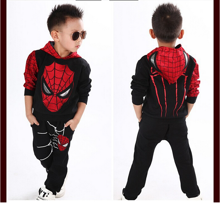 2019 Boys Clothes Tracksuit Spiderman 2st / set Passar Barnkläder - Barnkläder - Foto 6