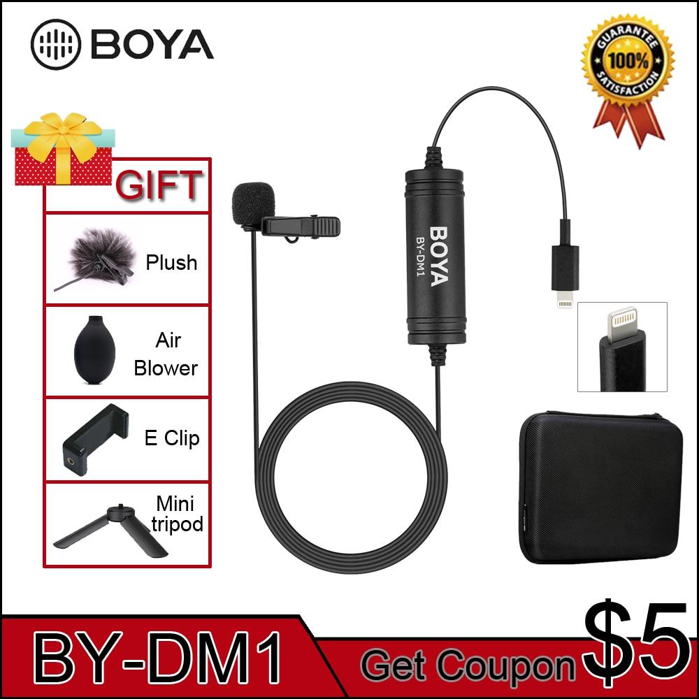 Boya By-Dm1 Microphone de Lavalier professionnel pour Iphone X/8/8 Plus/7/7 Plus Ipad Mini 4/3/2 Ipad Pro Ipad Air 2 Ipod Touc