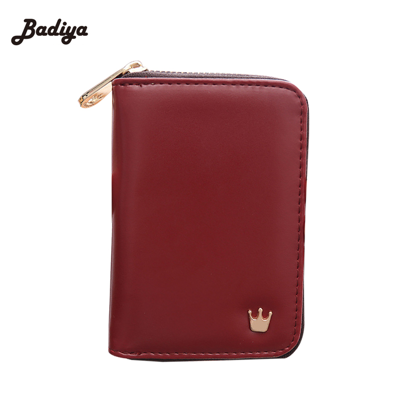 Ladies Clutch Money Bags Ultra Thin Crown New Women Wallet Solid Zipper Female Card Holder PU Leather Coin Purse ID Holder cute women cat cartoon wallet long female pu leather purse card holder casual zip ladies clutch wallet coin purse id holder new