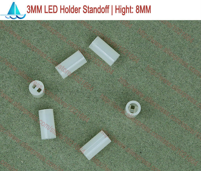200pcs/lot  3MM LED Lamp Holder Hight:8MM Light Emitting Diode Spacer Support Standoffs