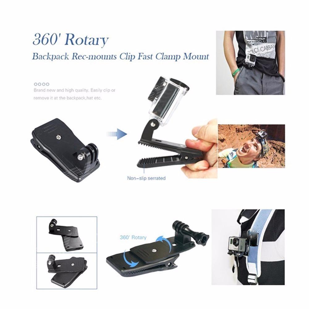 360 degree rotate clip For xiaomi yi 4k
