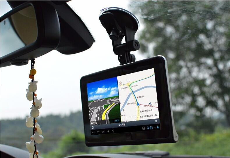 Low price 7 inch Car DVR Camera Android GPS Navigation Capacitive screen Car dvrs Recorder font
