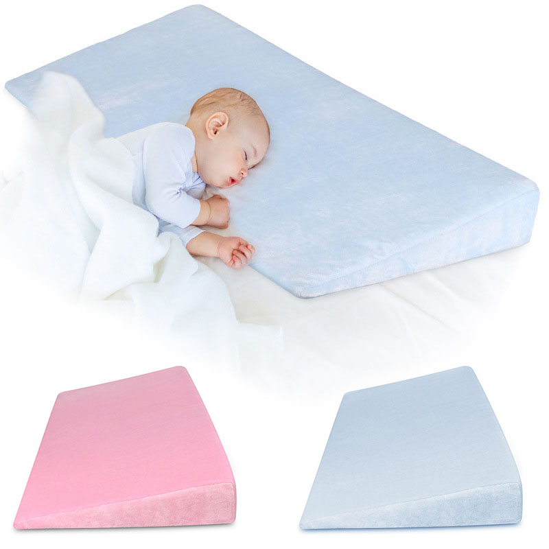 Baby Sleep Positioner Pillow Anti-Reflux High Incline Newborn Baby Crib Wedge 998