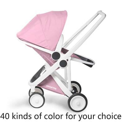 Alta proteção ambiental material de paisagem two-way carrinho de bebê guarda-chuva dobrável portátil