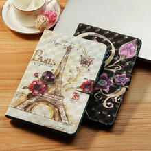 LUCKBUY For Samsung Galaxy Tab E 8.0 T377 T377V Folio Cases Funda tablet 3D Printed Cute Owl Unicorn Butterfly PU Leather Cover