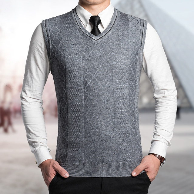 Online Shop High Quality Classic Solid Color Mens Wool Sweater