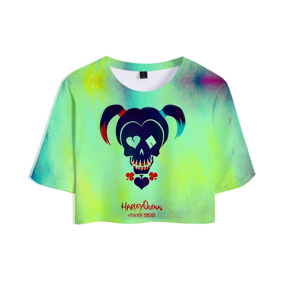 Hot Sale T-shirt And Shorts 3D Suicide Squad Summer Casual Tops Women Clothes Cool Hip Hop Print Plus Size 4XL