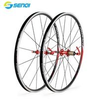 Retro Road Bike 700C Ultra Light Racing Wheel Group Aluminum Alloy Bicycle Rims BZO002