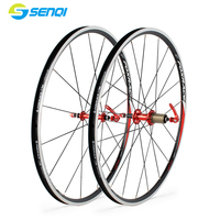 Retro Road Bike 700C Ultra Light Racing Wheel Group Aluminum Alloy Bicycle Rims BZO002