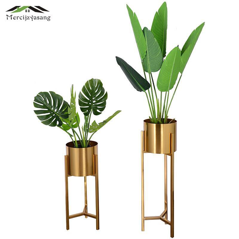 Напольные вазы Европа Многофункциональный металлическая ваза для цветов Золото Геометрическая Форма дорога свинец цветок держатель для у