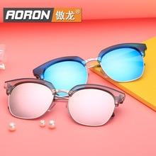 Aoron 2016 Style Polarized Light Sunglasses Fashion Color Film Will Frame Repair Face Sunglasses Women Fashion Glasses Y 9919