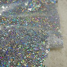 NEW Gold, Pink, Silvery, Blue, Champagne wedding decorative lace! 11 Colors in stock Laser shiny sequins fabric 1 Yard цены