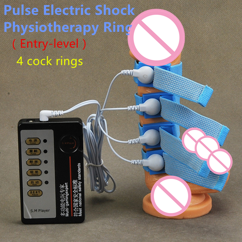 2 styles Pulse electric shock penis rings adjust cock rings delay training penis enlargment erotic toys adult sex toys for men