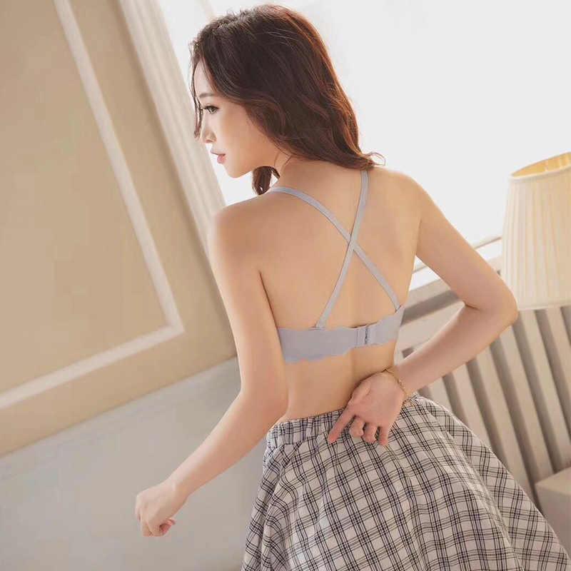 Áo Ngực Đúc Bộ Nữ 1 Dây Giá Rẻ Tập Hợp Cô Gái Áo Ngực Cho Nữ Bộ Đồ Lót Sexy Push Up áo Ngực Và Quần Lót
