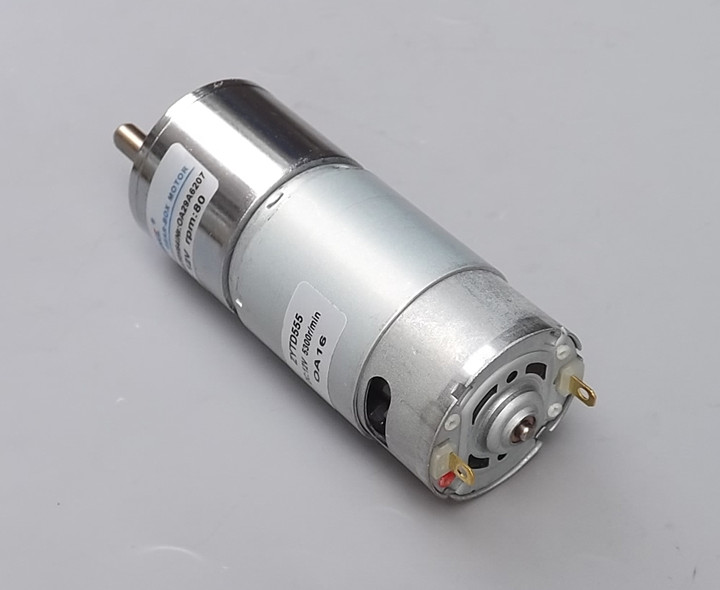 555 DC motor DC12V miniature deceleration small motor low speed positive reversing motor adjustable speed