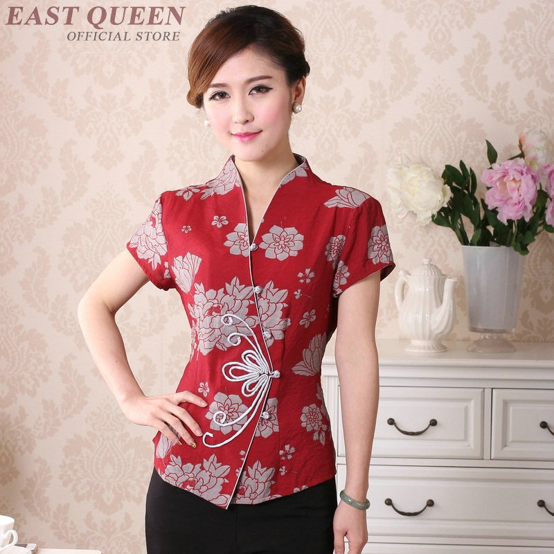 Traditional chinese clothing for women cheongsam top mandarin collar womens tops and blouses oriental China clothing