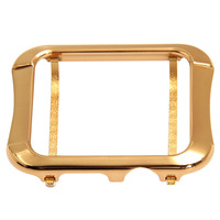 Aluminum Alloy Bumper Case Protective Metal Frame Cover Shell Compatible with 38mm Apple Watch Series 3/2/1 Gold