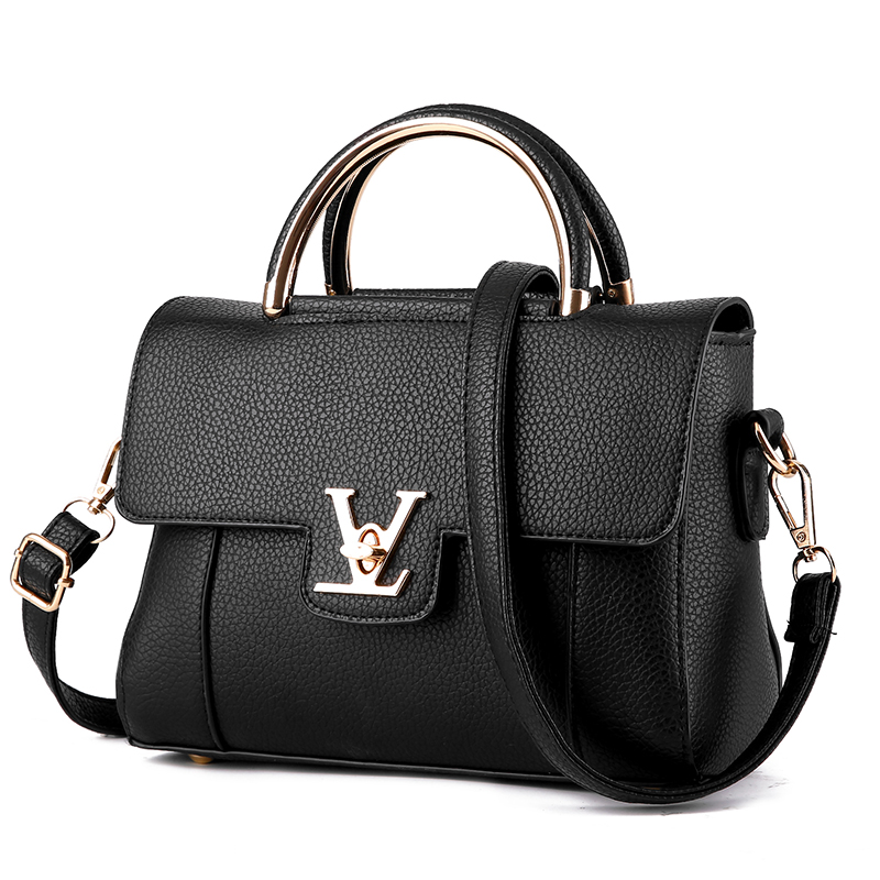 2017 Women V Letters Saffiano Handbags Leather Commuter Office Ring Tote Bag S Pouch Bolsas
