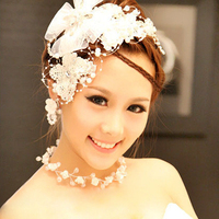 Cor noiva rendas solúvel em água borboleta strass hairpin cabelo acessório do cabelo do vestido de casamento
