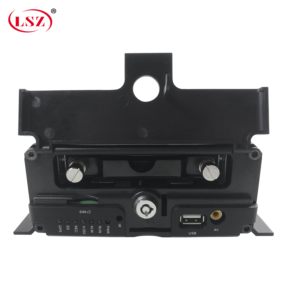 LSZ factory wholesale audio and video 8-way sd + hard disk cycle recording 4g gps wifi mdvr small car / harvester /forklift/boat