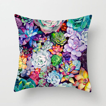 Tropical Succulents Cushion Covers