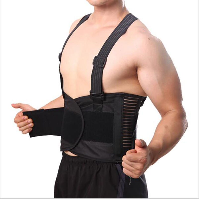 Postura transpirable Corrector Dolor Cinturón Volver corsé para hombres Soporte de espalda Brace Correas de hombro Soporte lumbar Cinturón Y001