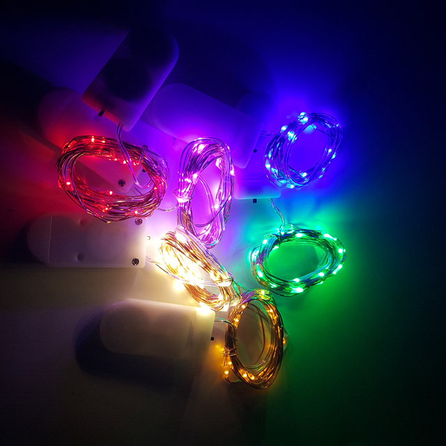 100 x cr2032 button battery operated control 2m 20led micro led 100 x cr2032 button battery operated control 2m 20led micro led string light waterproof led fairy aloadofball Images