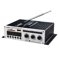 2x 20W 2CH Hi Fi Car Amplifier Stereo L/R RCA Digital Audio Amp with USB SD DVD CD FM MP3 Power Adapter LP V9S