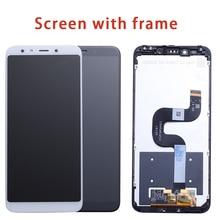 Dla Xiao mi mi A2 mi A2 wyświetlacz LCD ekran dotykowy Digitizer zgromadzenie dla Xiao mi mi 6X mi 6X wymiana naprawa części biały 5.99 cal