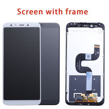 Xiao mi mi A2 mi A2 lcd ekran SAYıSALLAŞTıRıCı dokunmatik ekran Meclisi Için Xiaomi mi mi 6X mi 6X yedek onarım Parçaları Beyaz 5.99 inç