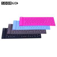 Wireless Bluetooth Silicone Keyboard Mini Flexible Slim Teclado Soft keypad Portable PC MAC Ipad Laptop Foldable keyboard