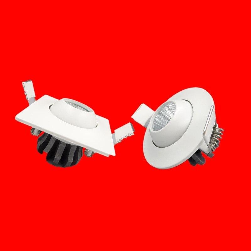 3 Вт 5 Вт мини-светодиодные светильники белый круглый потолочный точечные светильники 110 В 220 В светодиодные панели встраиваемые алюминиевый...