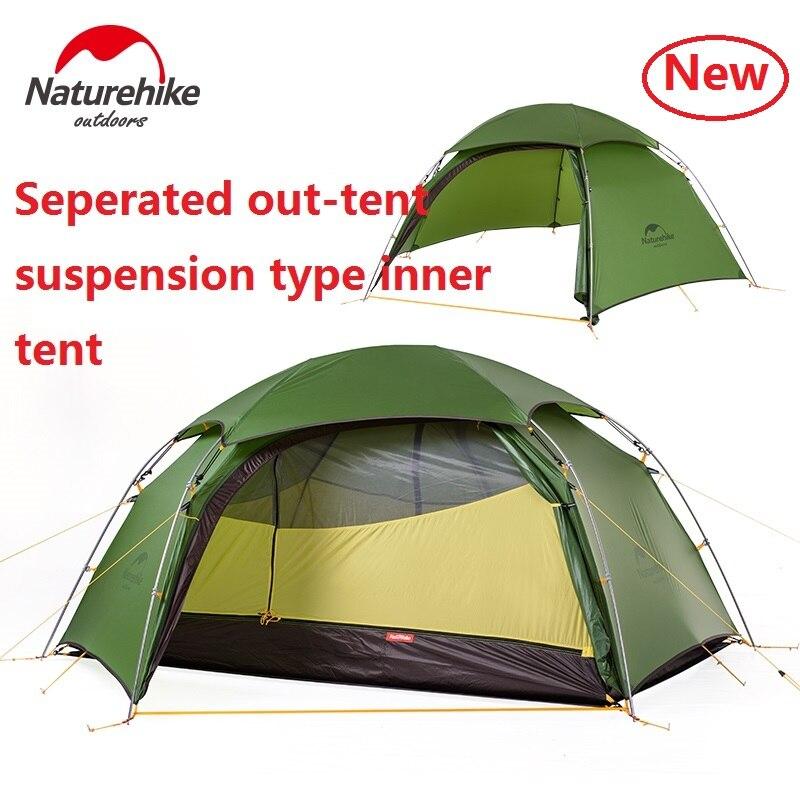 DHL gratuit nature randonnée nuage pic 2 hexagonal ultra-léger tente 2 personne en plein air camping randonnée 4 saison Double couche coupe-vent tente