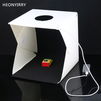 30 X 30 X 30cm Portable Mini Photo Studio Box Plastic Photography Backdrop Built In Light