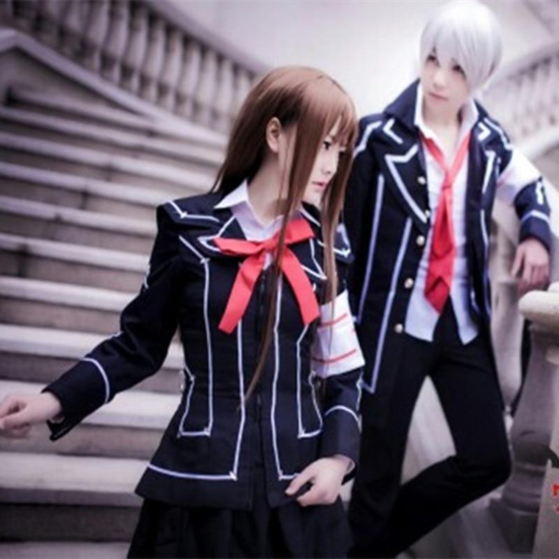 Free Shipping Kuran Yuki Kiryu Zero Cosplay Hot Anime Vampire Knight Cosplay Costume Man Woman School