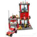 2017 estación de bomberos kazi bloques 300 unids ladrillos bloques huecos fija juguetes educativos para niños compatibles con lepin