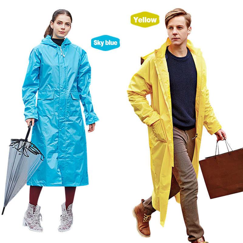 Rainfreem Geçirimsiz Yağmurluk Kadınlar/Erkekler Su Geçirmez Siper Ceket Panço Tek katmanlı yağmurluk Kadın Yağmurluk Yağmur Dişli Panço