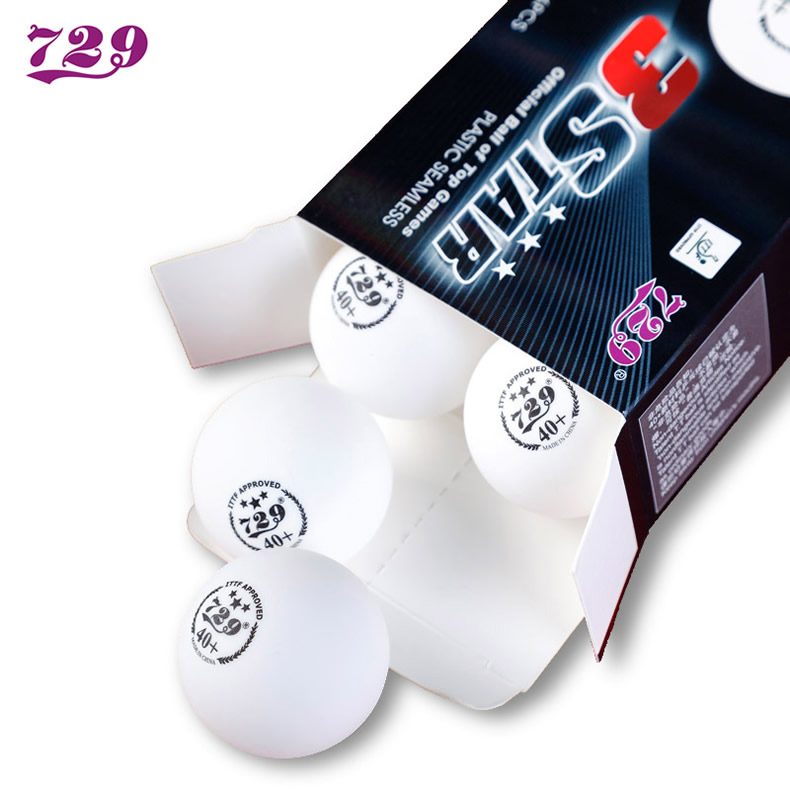 729 Friendship 3-Star Seamless 40+ Plastic Table Tennis Balls New Material ITTF APPROVED Poly Ping Pong Balls
