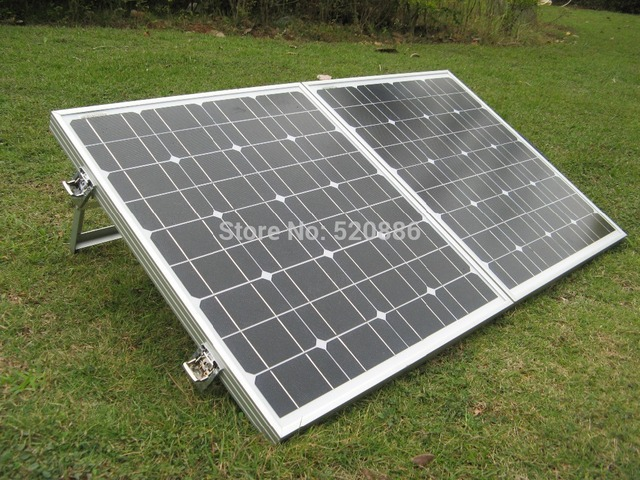 ECO-WORTHY Monocrystalline 100w Foldable Solar Panel Folding with 15A Solar Charger for Car Battery 12v Solar Panel Portable