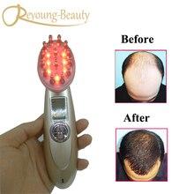 Electric Photon Vibration RF EMS Laser Bio Microcurrent Vibration Hair Growth Massager Comb Brush For Anti Hair Loss Treatment