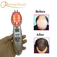 Electric Photon Vibration RF EMS Laser Bio Microcurrent Vibration Hair Growth Massager Comb Brush For Anti Hair Loss Treatment