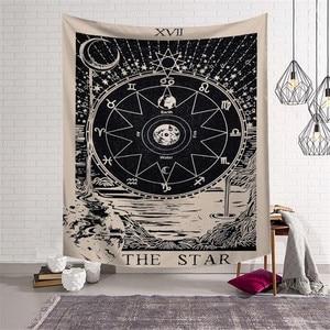 Таро подвесное солнце звезда гобелен с Луной хиппи Настенное подвесное одеяло Настенный Ковер Коврик для йоги домашний декор гобелен w3-new-LS-TLP
