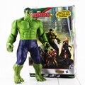 Hot 30 cm Superhéroes Los Vengadores Hulk PVC Figura de Acción de Juguete de Modelo Con la Caja