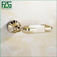 FLG Golden Finish Soap Dish Zinc Alloy Gold Soap Holder Bathroom Accessories