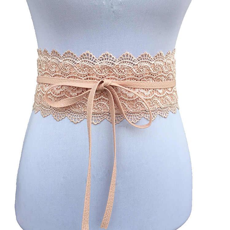 355a65084e Belts for Women Wedding Dress Waist Band Badinka 2018 New Black White Wide  Corset Lace Belt
