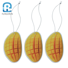 FURGERIN 3PCS Paper Hanging Car Air Freshener for Homes multi-purpose perfume car Good Smell Fruit Scents Fragrance