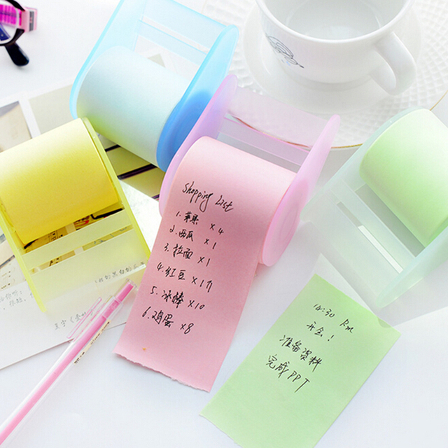 cute stationery memo pads belt adhesive tape holder sticky note