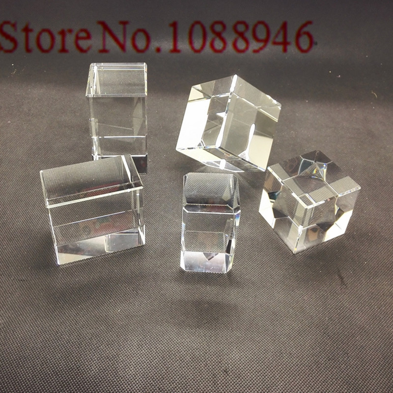 Hot Sale 10 100pc Crystal Cube K9 Crystal Blank Block with Cart Corner Carved White Embryo