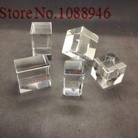Hot Sale 10 100pc Crystal Cube K9 Crystal Blank Block with Cart Corner Carved White Embryo Material for 3d Laser Engraved Craft